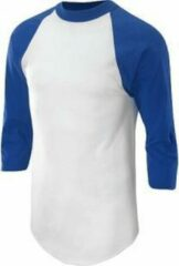 Blauwe Soffe Raglan Honkbal Ondershirt 3/4 mouw - Royal - Youth Small