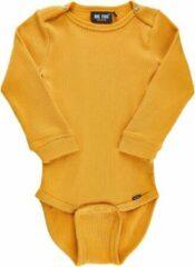 Me Too - baby romper - rib - lange mouwen - geel