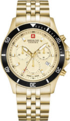Gouden Swiss Military Hanowa - Swiss Made - herenhorloge Flagship Chrono II 06-5331.02.002