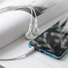Hoco M73W Universele Bedrade Earphones met Mic - Wit - 3.5mm