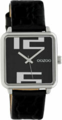 OOZOO Timepieces Horloge Croco Zwart | C10369