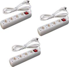 Sonstiges 3 Stück LEX SL-005 4-fach Steckerleisten mit Wippschalter und Kinderschutz