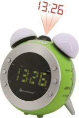 Soundmaster UR140GR UKW Uhrenradio mit Projektion und dimmbaren Nacht- und Aufwachlicht - grün