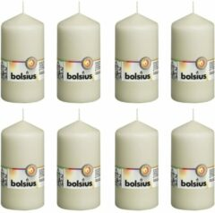 Creme witte Bolsius Stompkaarsen 8 st 130x68 mm ivoor
