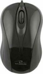 Zwarte Titanum USB Optische Muis Hornet