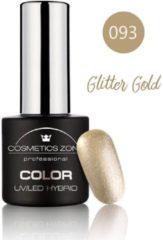 Gouden Cosmetics Zone UV/LED Hybrid Gel Nagellak 7ml. Glitter Gold 093