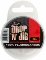 Transparante Fox Rage Drop 'n' Jig Fluorocarbon - Onderlijnmateriaal - 0.20mm - 3.08kg