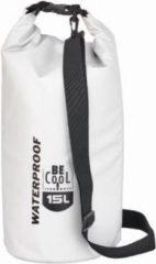 BE COOL TUBE Cooler Bag 20 Ltr White   koeltas   Coolingbag   zeiltas   beachtas   luchtdicht   waterdicht  wit