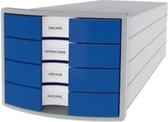HAN IMPULS 2.0 1012-14 Ladebox Lichtgrijs DIN A4, DIN C4 Aantal lades: 4