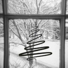 Zwarte Namenenzo Sticker Raamsticker kerst A4 - Kerstboom | Kerst stickers | kerststickers raam | Gratis Verzending!