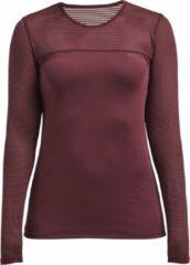 Bordeauxrode Röhnisch Rohnisch Miko Long Sleeve Dames Sportshirt - Burgundy - Maat XS