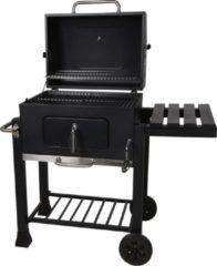 Vargan Houtskool BBQ - Op Wielen - Met Tafel - 62x46x108cm - MAT ZWART