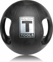 Zwarte Body-Solid Medicine Ball 4,4KG - Dual Grip 10 LB