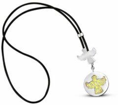 BiggDesign Angel zilveren ketting, 925 sterling zilver, verguld, handgemaakt, symbool van goedheid en schoonheid, Angel ketting, speciaal ontwerp, Talisman, damesaccessoires
