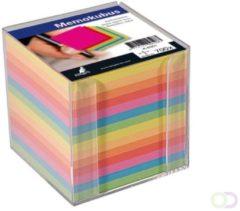 Memokubus met inhoud Kangaro 9,5x9,5x9,5cm 700 vel assorti kleuren