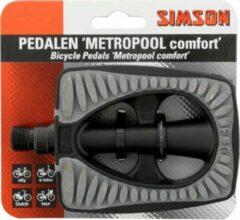 Simson Pedalen Set Metropool Comfort 9/16 Inch Grijs/zwart
