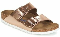 Bronze Birkenstock - Arizona - Sportieve slippers - Dames - Maat 35 - Brons - Metallic Copper LE