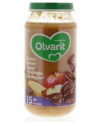 Olvarit Bruine Bonen Appel Rundvlees Aardappel 15m06 (250g)