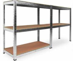 Zilveren Merkloos / Sans marque Stellingkast, verzinkt, 170x75x30, 350kg, 5 etages