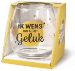 Miko Wijn -Waterglas Geluk Proost!