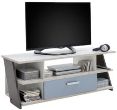 Zandkleurige FD Furniture TV Meubel Nona 135 cm breed - Zand eiken