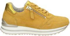 Gabor Vrouwen Sneakers - 46.528 suede - Geel - Maat 38