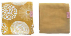 Gele Witlof for kids hydrofiele doek 80x80 cm Sparkle sweet honey - set van 2