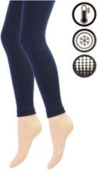Merkloos / Sans marque Dames Thermo Legging - Marineblauw - Maat L/XL