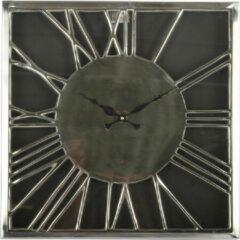 Collectione Landelijke Staande klok Celestina 41 cm Zwart Met Glans Chroom