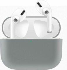 Watchbands-shop.nl Case Cover Voor Apple Airpods Pro- Siliconen design   Grijs