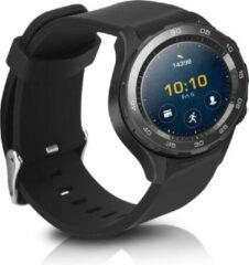 Kwmobile horlogeband voor Huawei Watch 2 - siliconen armband voor fitnesstracker - zwart