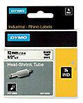 Labeltape krimpkous DYMO IND RHINO 18055 Polyolefine Tapekleur: Wit Tekstkleur:Zwart 12 mm 1.5 m