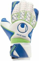 Uhlsport Aquasoft Keepershandschoenen - Maat 9.5 - Unisex - wit/blauw/groen