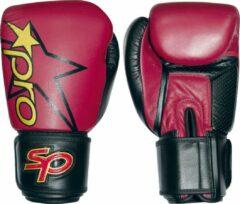 Bokshandschoen Starpro pro sparring glove | rood-zwart 10 oz