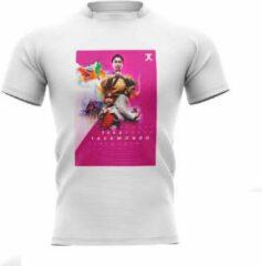 Trainingshirt JC Taekwondo Take Taekwondo | wit-roze | S