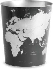 Zwarte Balvi Globe Prullenbak - Tin