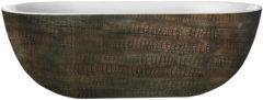 Douche Concurrent Ligbad Vrijstaand Best Design Exclusive Ovaal 86x180x60cm Hoogwaardig Acryl Croco Second
