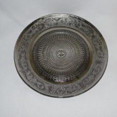 ZoeZo Design Dessert bord, zilverkleurig glas, Ø 20 cm