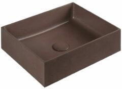 Sapho Formigo betonnen wastafel 47.5x13x36.5cm bruin