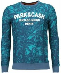 Groene Sweater Black Number Park Cash - Sweater