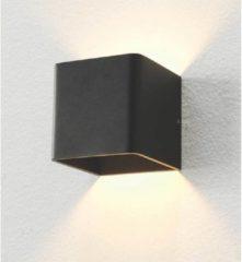 Artdelight - Wandlamp Fulda - Zwart - LED 6W 2700K - IP20 - Dimbaar - wandlamp binnen   wandlamp zwart   muurlamp   led lamp