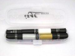 Gouden IZGO Naildesign 2 in 1 Nagellak DUO Nail Art Pen Start Set