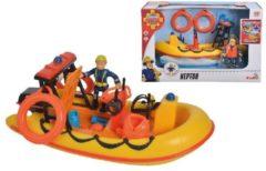 Gele Simba-Dickie Simba - Speelset Brandweerman Sam met boot 19 Cm Neptune