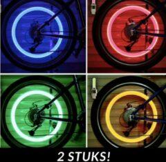 Blauwe Crazy Lights Spaakverlichting - LED spaaklicht - kleurrijke spaaklampen - fietslamp - wielverlichting - 2 Stuks