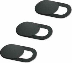 Zwarte Jumalu Webcam cover- Ultra dun - Camerablokkers - Push privacy blokker - 3 stuks