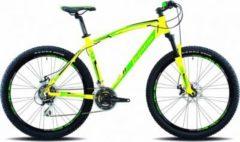 Legnano 27,5 ZOLL LAVAREDO MOUNTAINBIKE ALUMINIUM 21-GANG MTB Hardtail Herren matt-gelb-grün