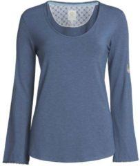 Langarm-Shirt mit Rundhalsausschnitt PiP Studio Dark Blue