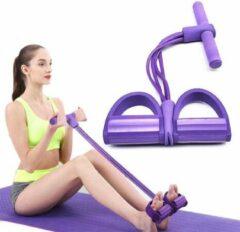 Pro-Care Pedaal Fitness Elastiek - 12KG full Pressure Weerstand - Buikspier - Biceps - Arm - Been Pedaal Power Bands Training - Paars