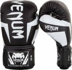Venum Kickboks Bokshandschoenen Elite Zwart Wit 12 OZ