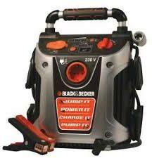 Afbeelding van Black and Decker Black+Decker Jumpstarter & Compressor Vg11 (12v 450a) - draagbaar